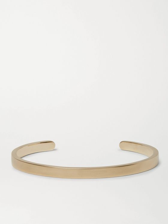 Miansai Singular Brushed-Brass Cuff