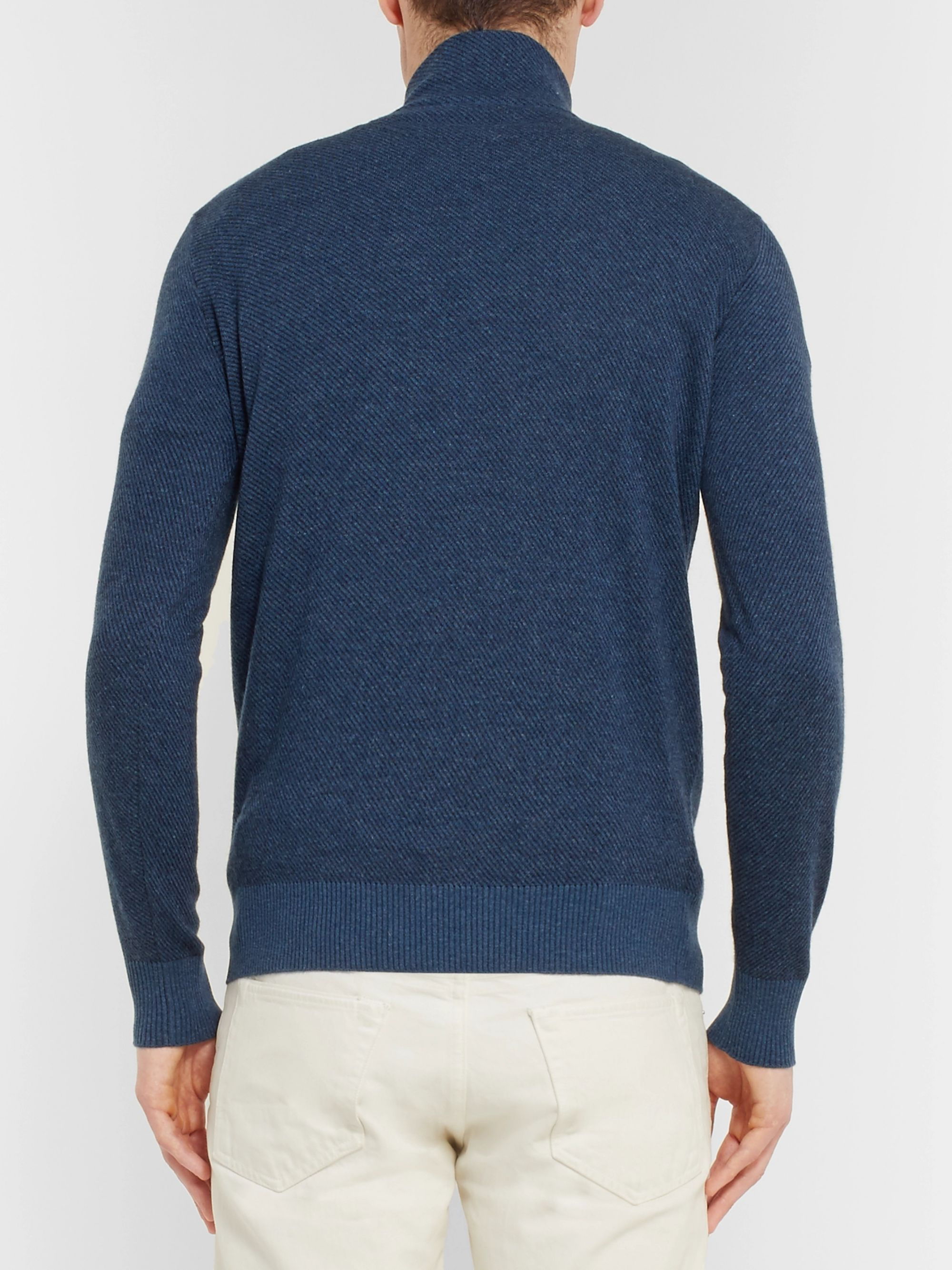 Loro Piana Roadster Cashmere Half-Zip Sweater
