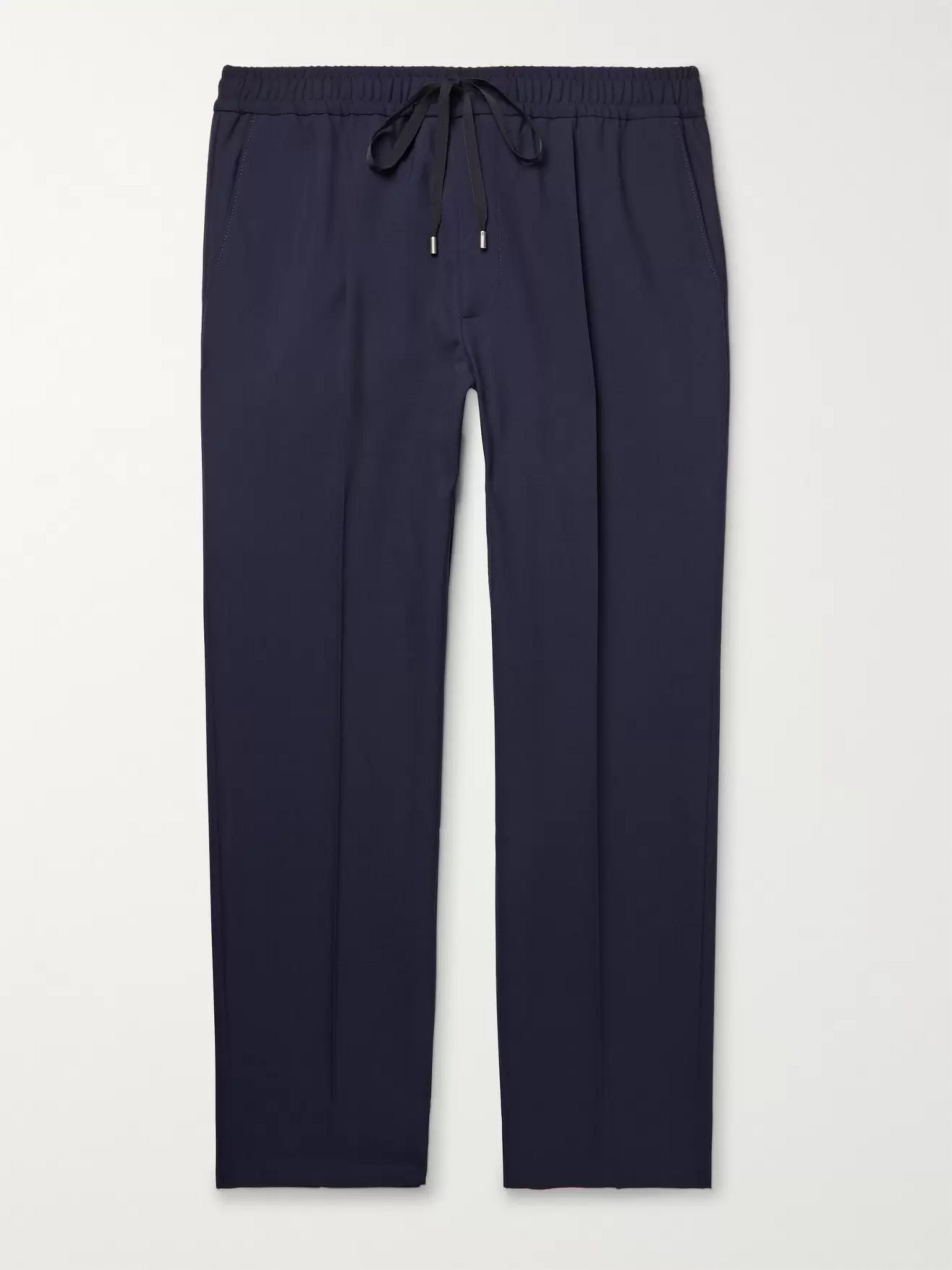 Gucci Charcoal Cropped Wool Drawstring Trousers