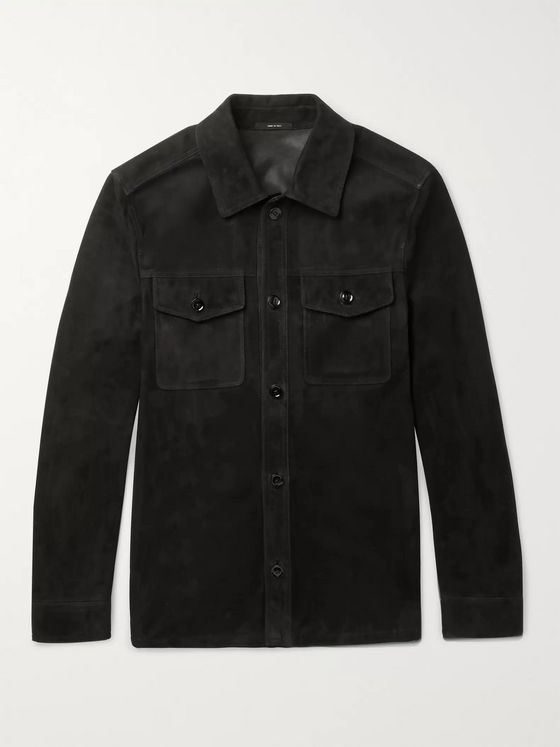 TOM FORD Suede Shirt Jacket