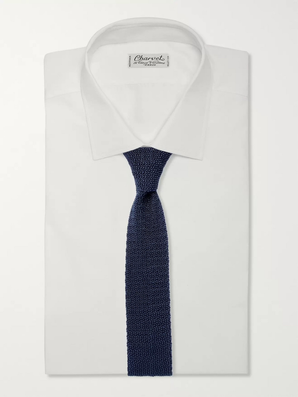 Dunhill 6cm Knitted Mulberry Silk Tie