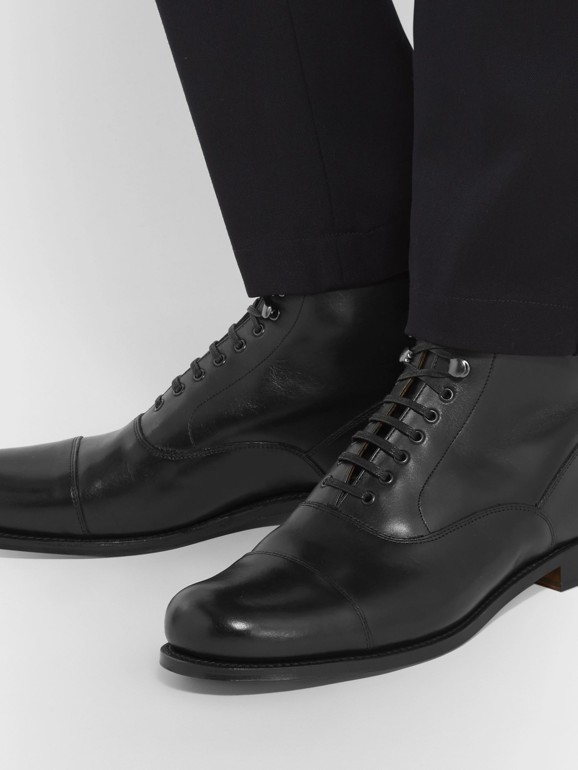 Grenson Leander Cap-Toe Leather Boots
