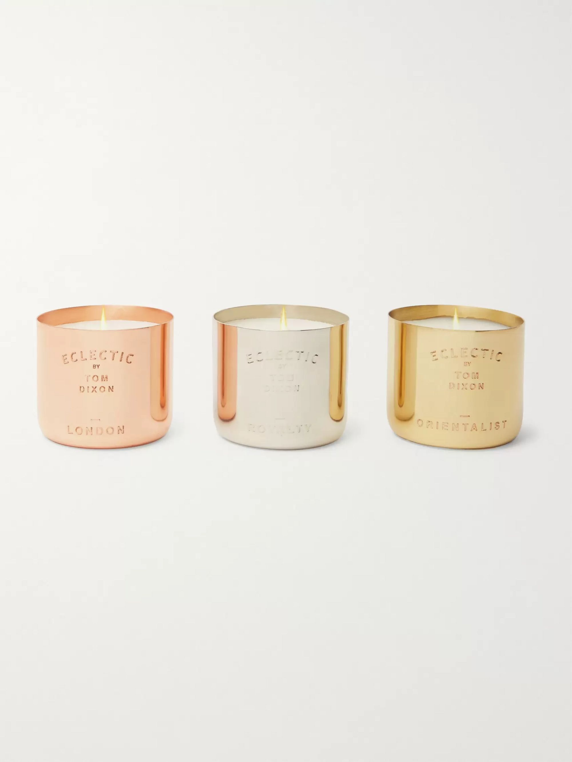 Tom Dixon Eclectic Scented Candle Set, 3 x 120g