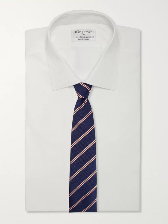 Kingsman + Drake's 8cm Striped Silk and Cotton-Blend Faille Tie