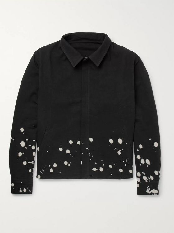 The Elder Statesman Bleach-Splattered Cotton-Canvas Jacket