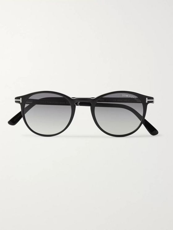 TOM FORD Round-Frame Acetate Sunglasses