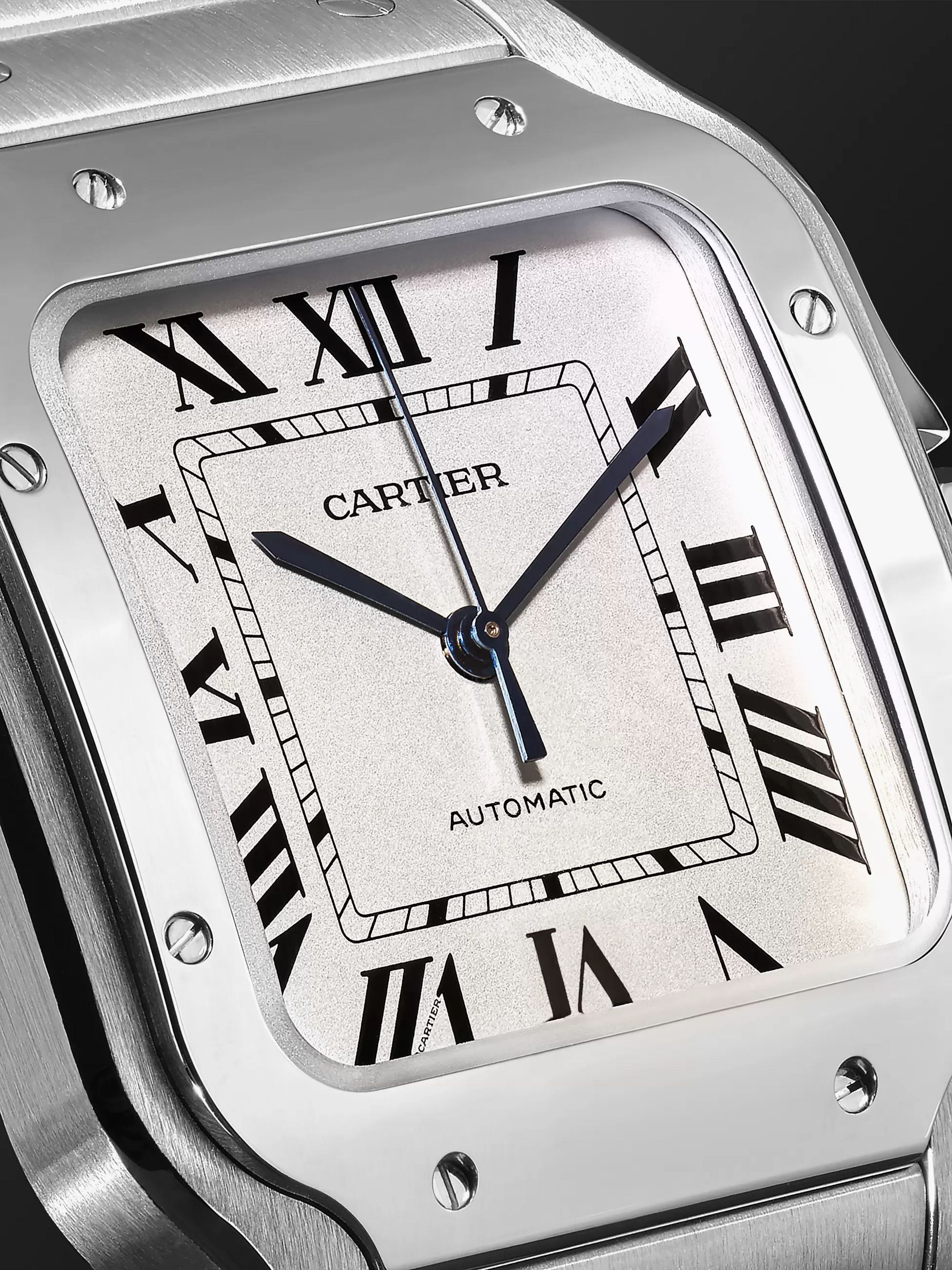 Cartier Santos Automatic 35.6mm Interchangeable Stainless Steel and Leather Watch, Ref. No. WSSA0010P