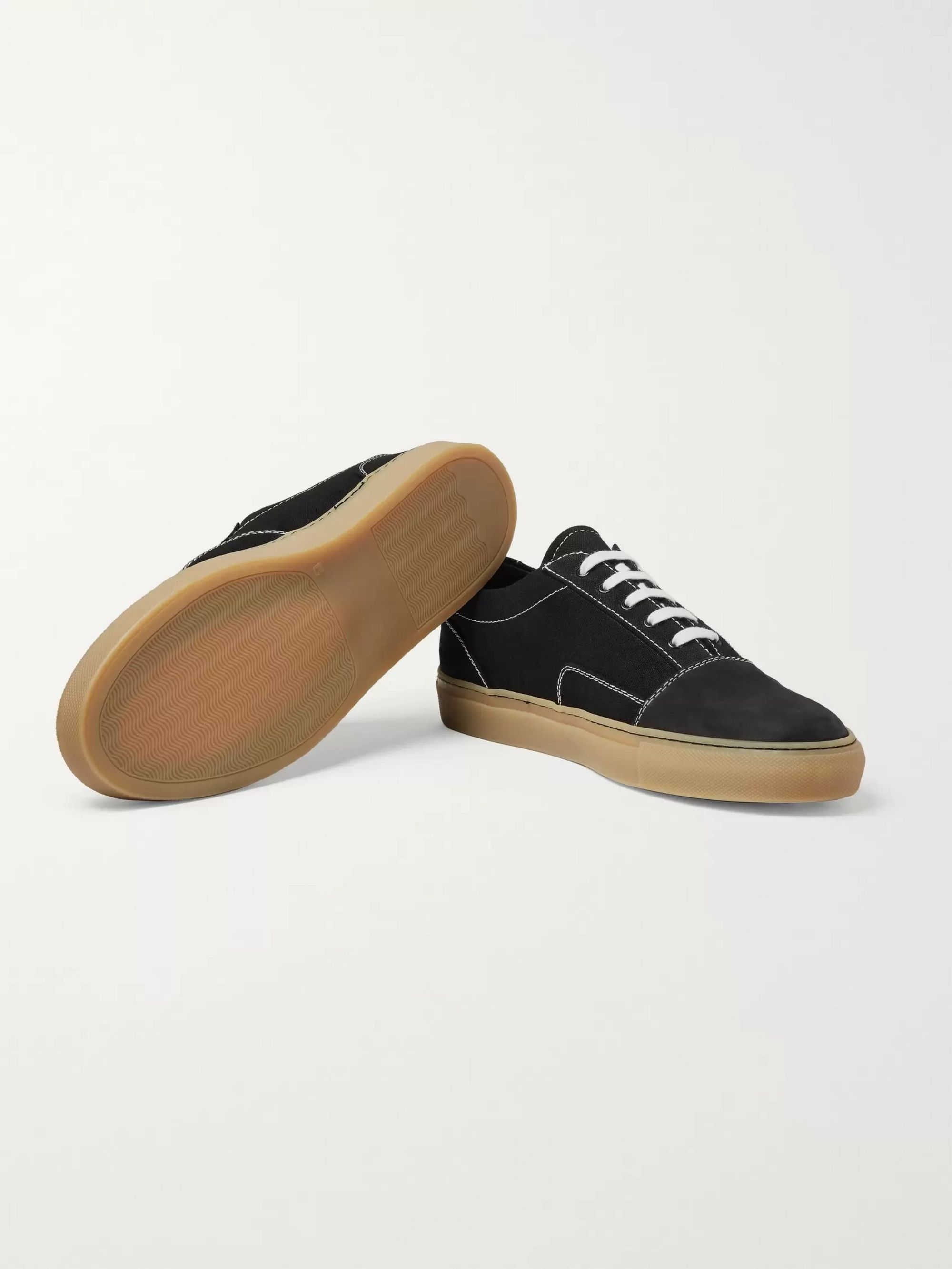 Common Projects Cap-Toe Canvas and Nubuck Sneakers