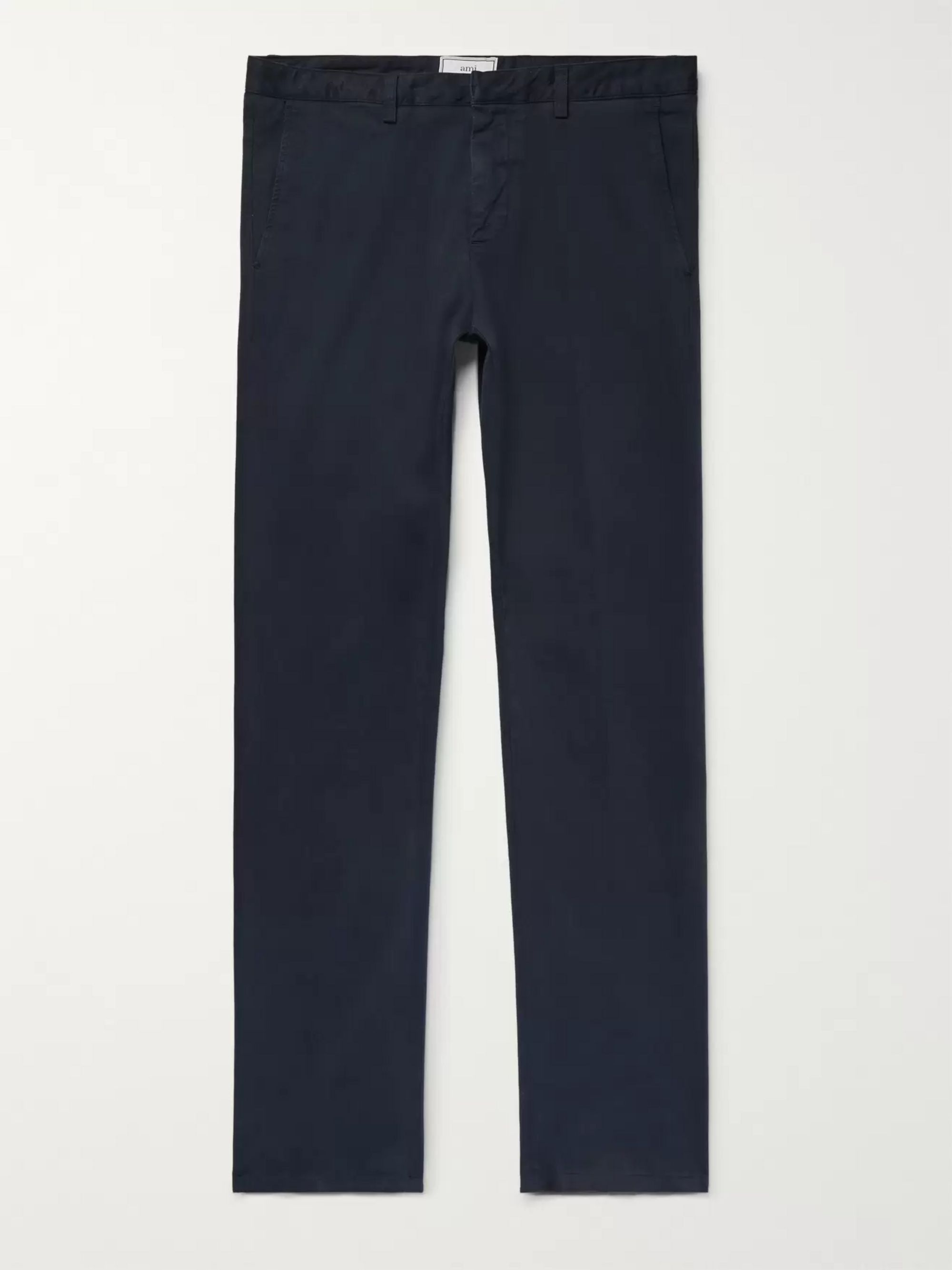 AMI Slim-Fit Stretch Cotton-Twill Chinos