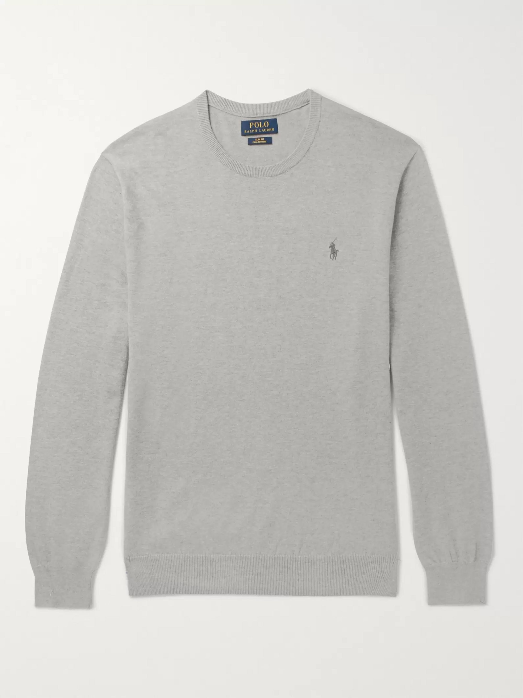 new products really comfortable well known Slim-Fit Pima Cotton Sweater
