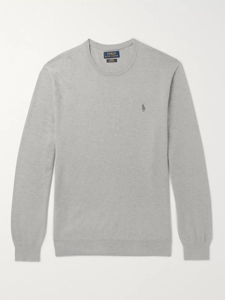 8814cf1f Slim-Fit Pima Cotton Sweater