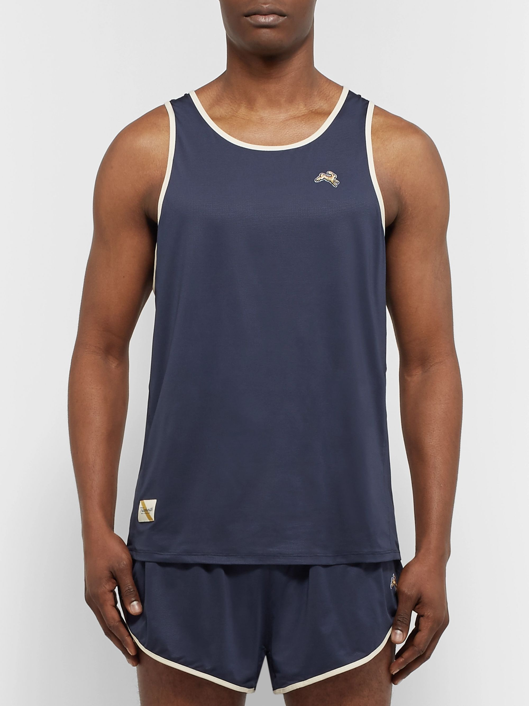 Tracksmith Twilight Stretch-Mesh Tank Top