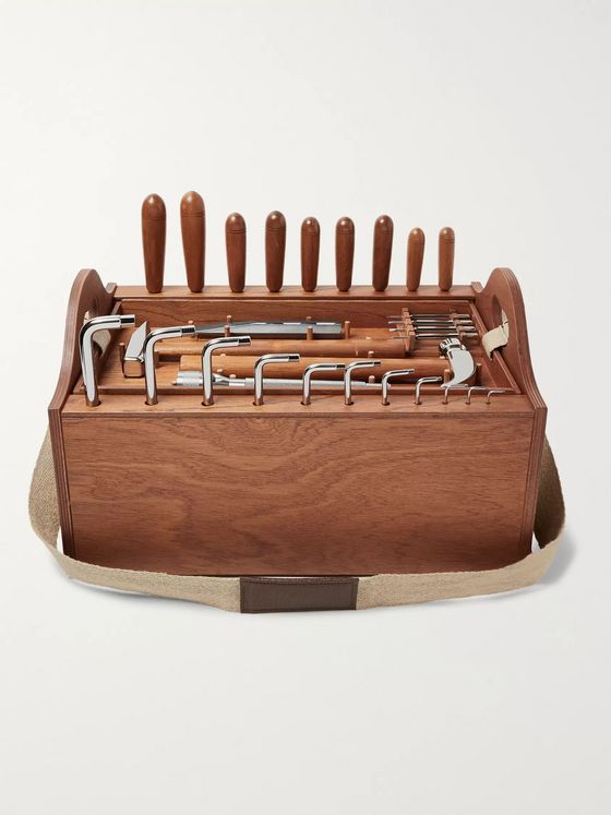 Lorenzi Milano Tool Kit with Mahogany Wood Box