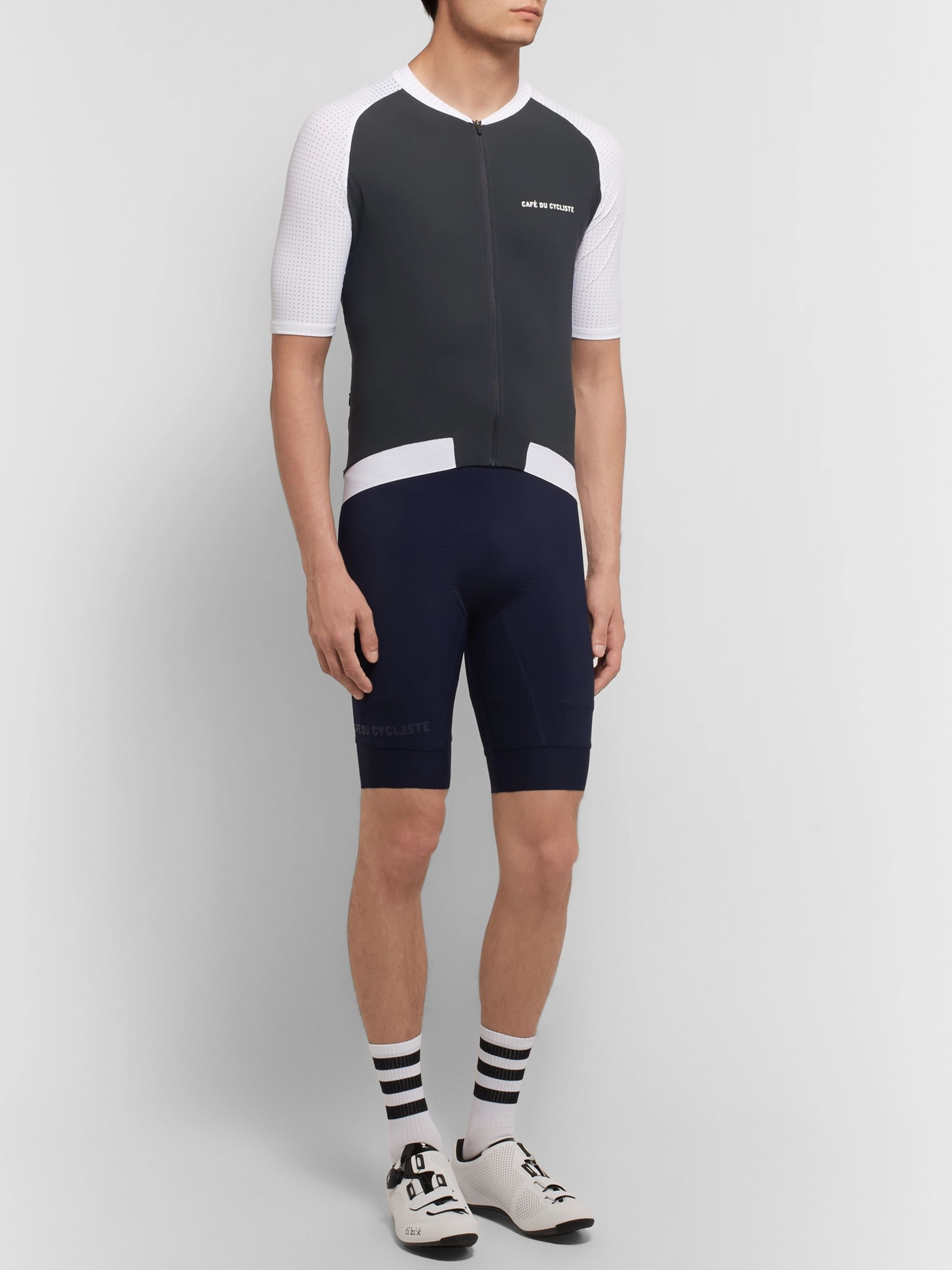 Cafe du Cycliste Marinette Mesh-Panelled Cycling Bib Shorts