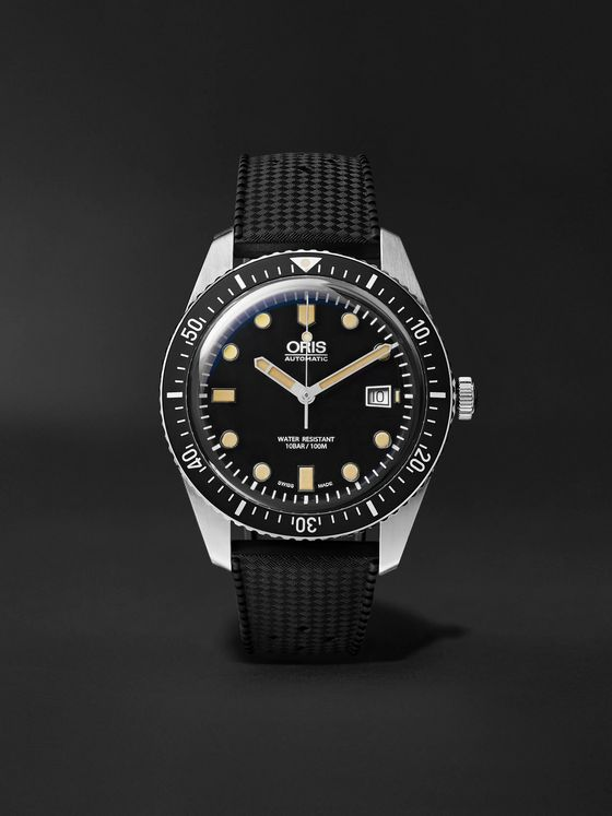 ORIS Divers Sixty-Five Automatic 42mm Stainless Steel and Rubber Watch, Ref. No. 01 733 7720 4054