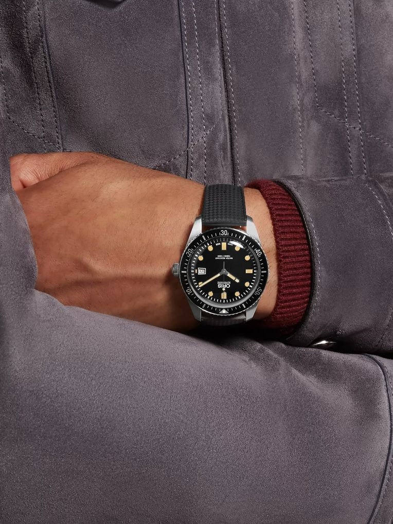 Oris Divers Sixty-Five Automatic 42mm Stainless Steel and Rubber Watch