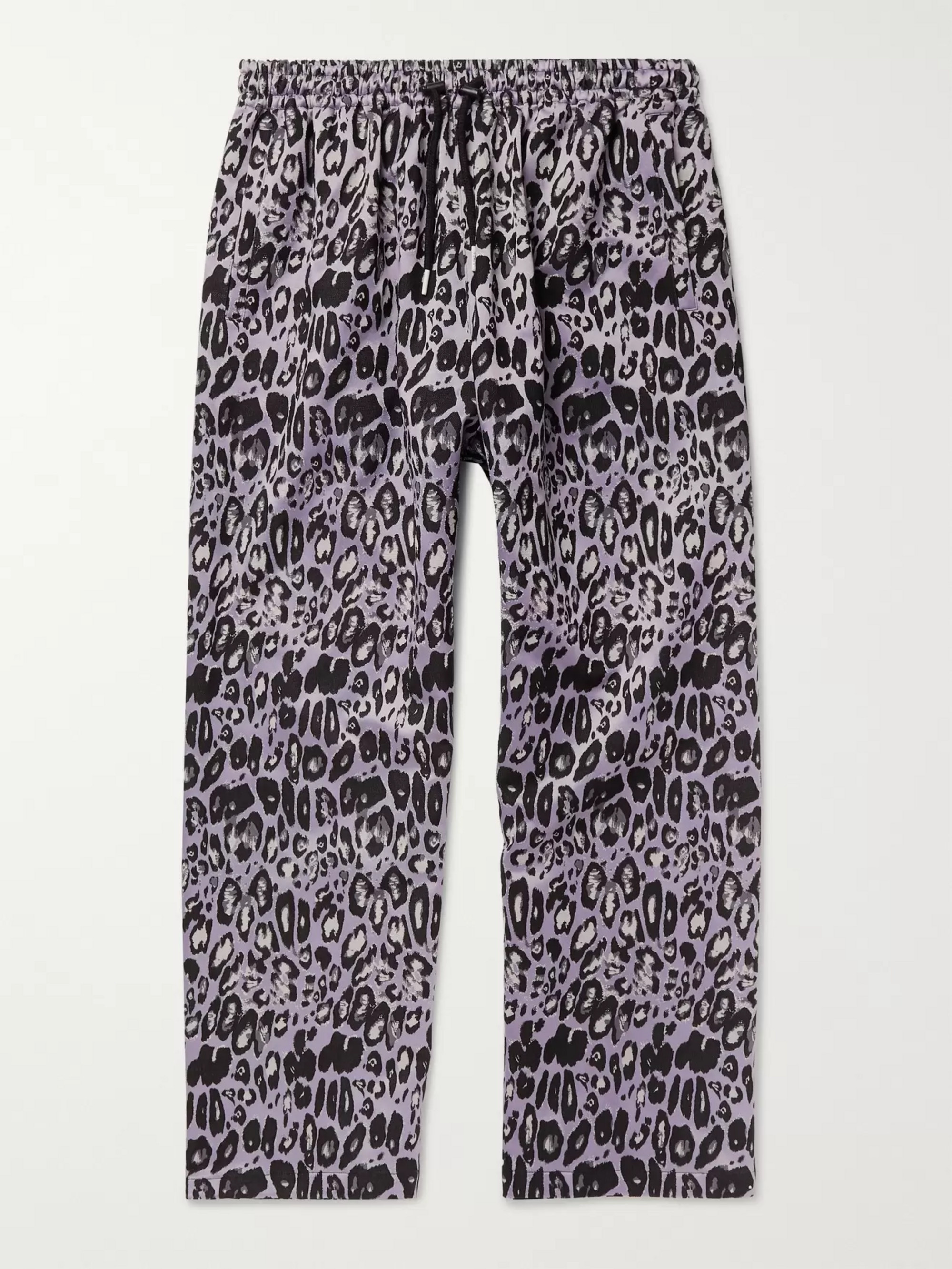 99%IS- Leopard-Jacquard Trousers