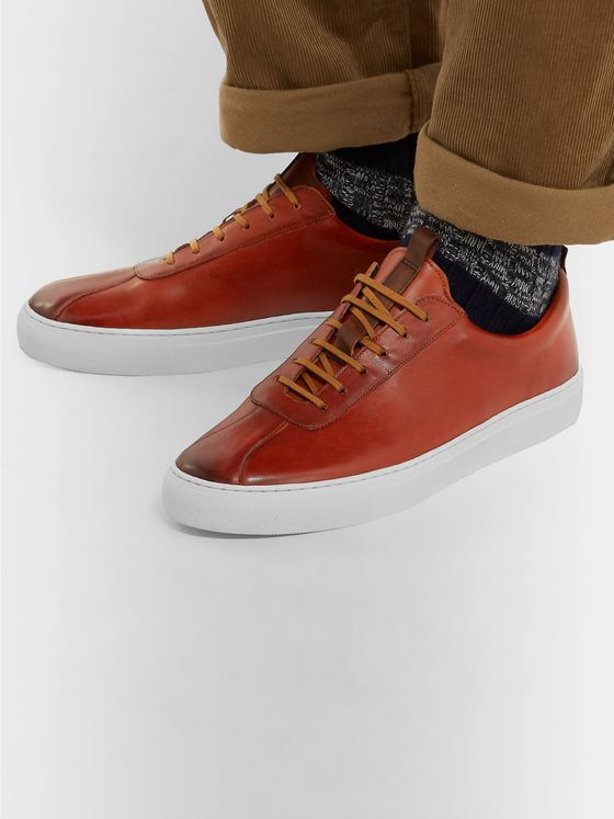 GRENSON Hand-Painted Leather Sneakers