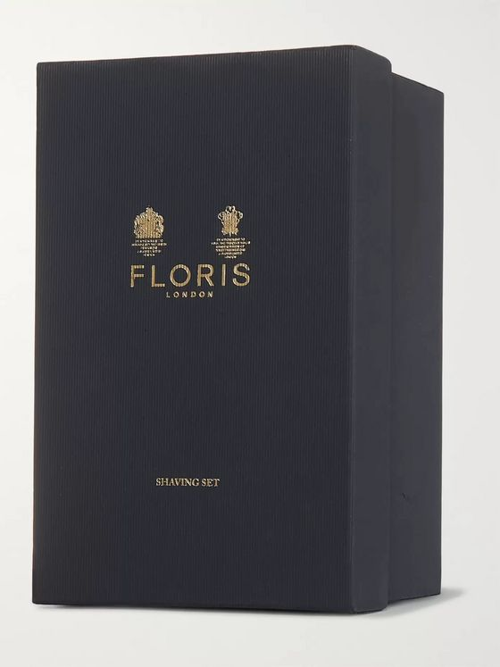 Floris London Three-Piece Gold-Plated and Briarwood Shaving Set