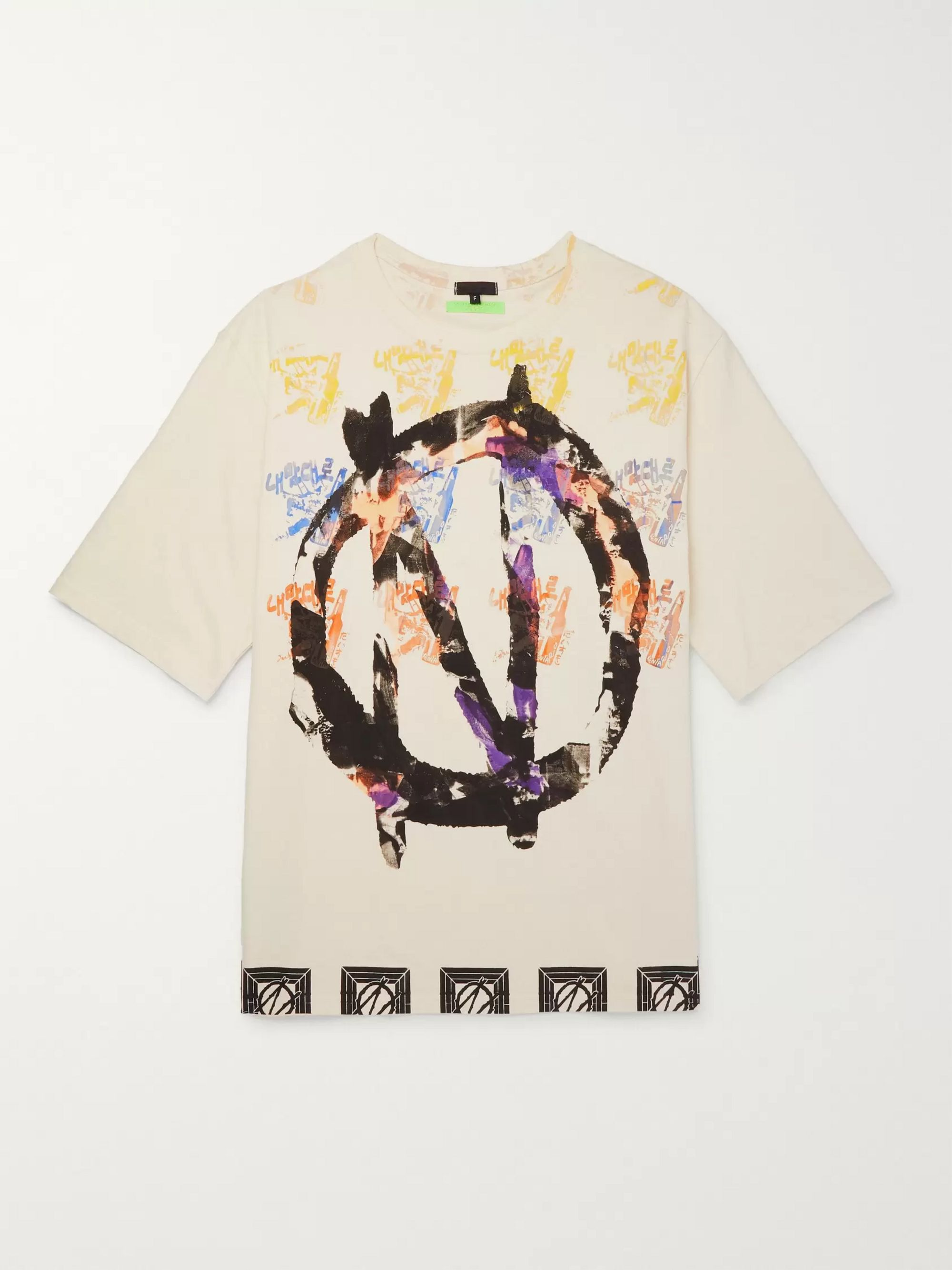 99%IS- Oversized Printed Cotton-Jersey T-Shirt