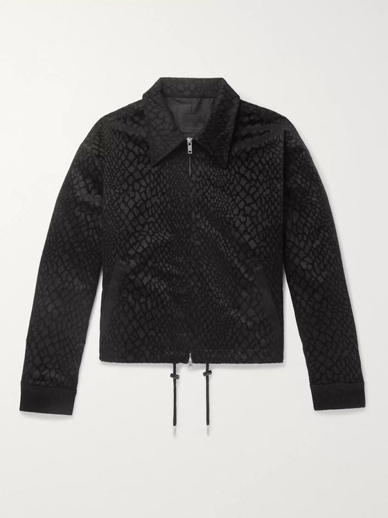 99%IS- Appliquéd Snake-Effect Jacquard Jacket