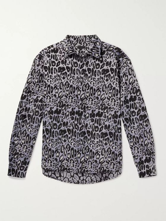 99%IS- Leopard-Jacquard Shirt