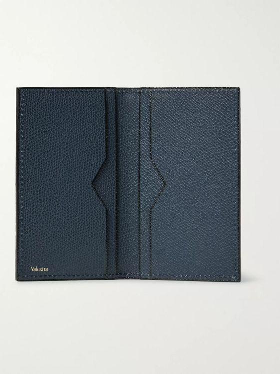 Valextra Pebble-Grain Leather Bifold Cardholder