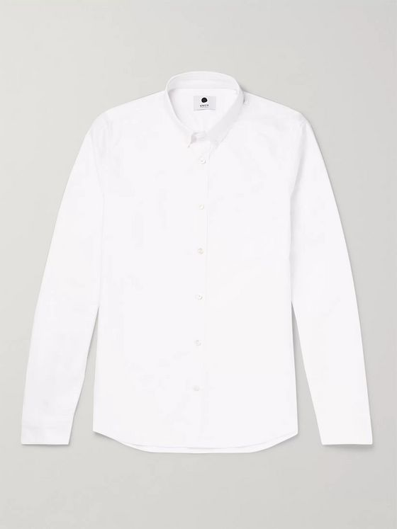 NN07 Sixten Slim-Fit Button-Down Collar Cotton Oxford Shirt