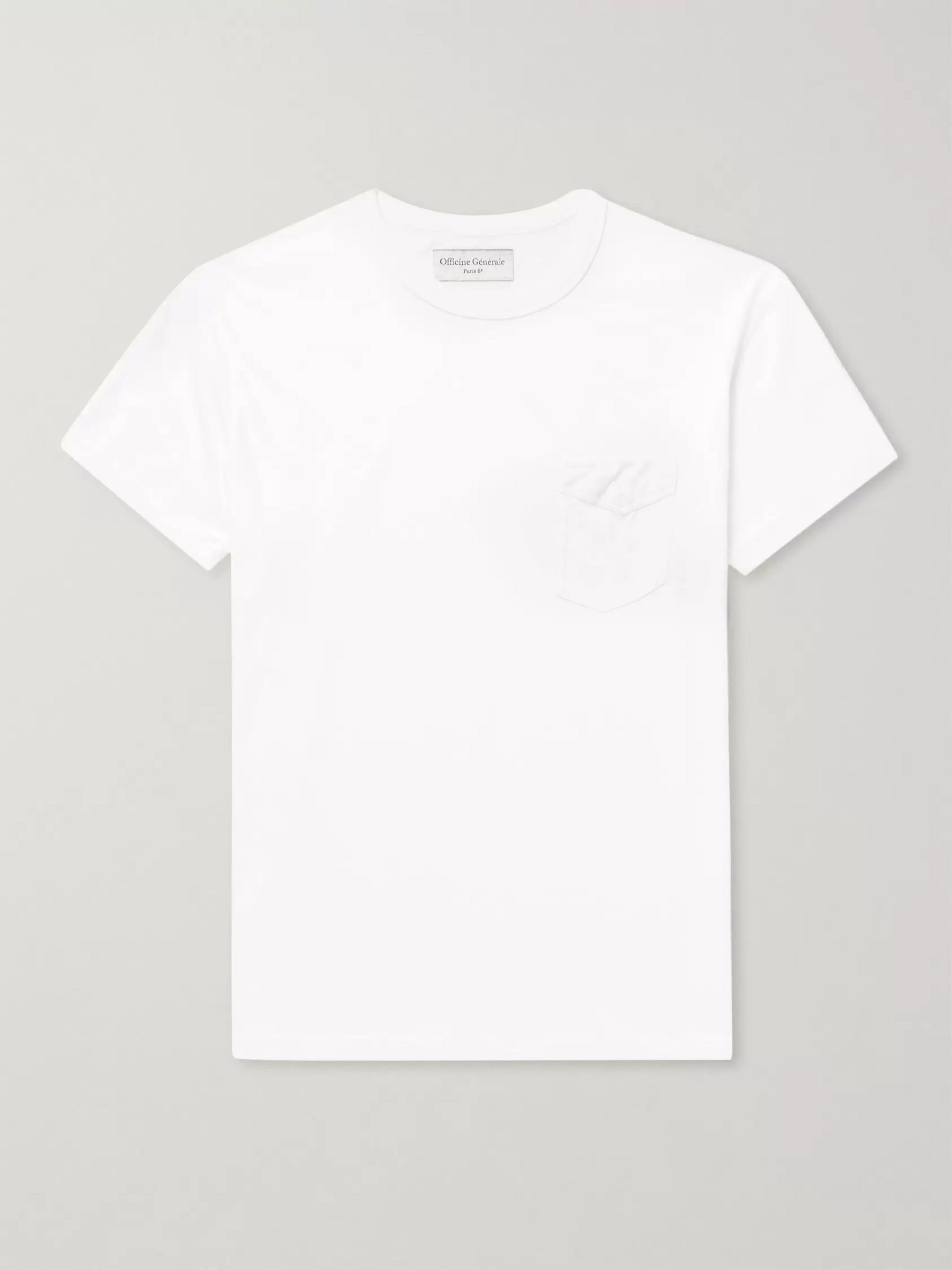 Officine Generale Cotton-Jersey T-Shirt