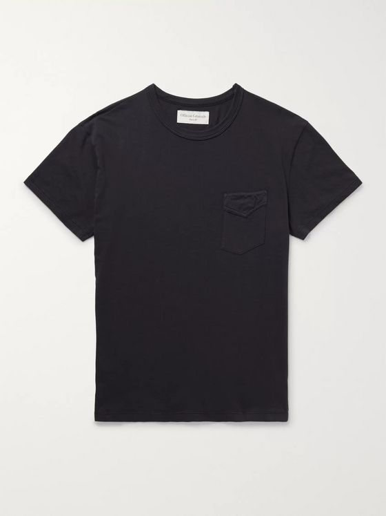 Officine Générale Garment-Dyed Cotton-Jersey T-Shirt