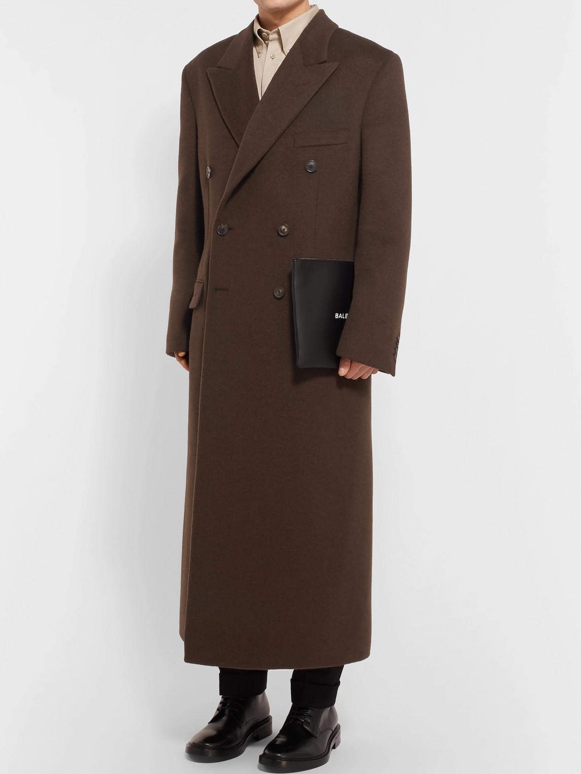 Balenciaga Coats OVERSIZED DOUBLE-BREASTED CAMEL COAT