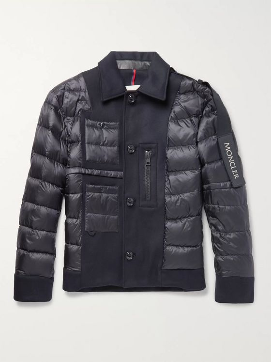 Moncler C Padded Virgin Wool and Shell Down Jacket