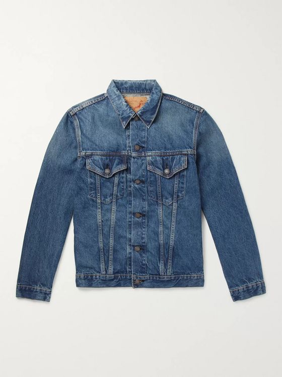ORSLOW Washed-Denim Jacket