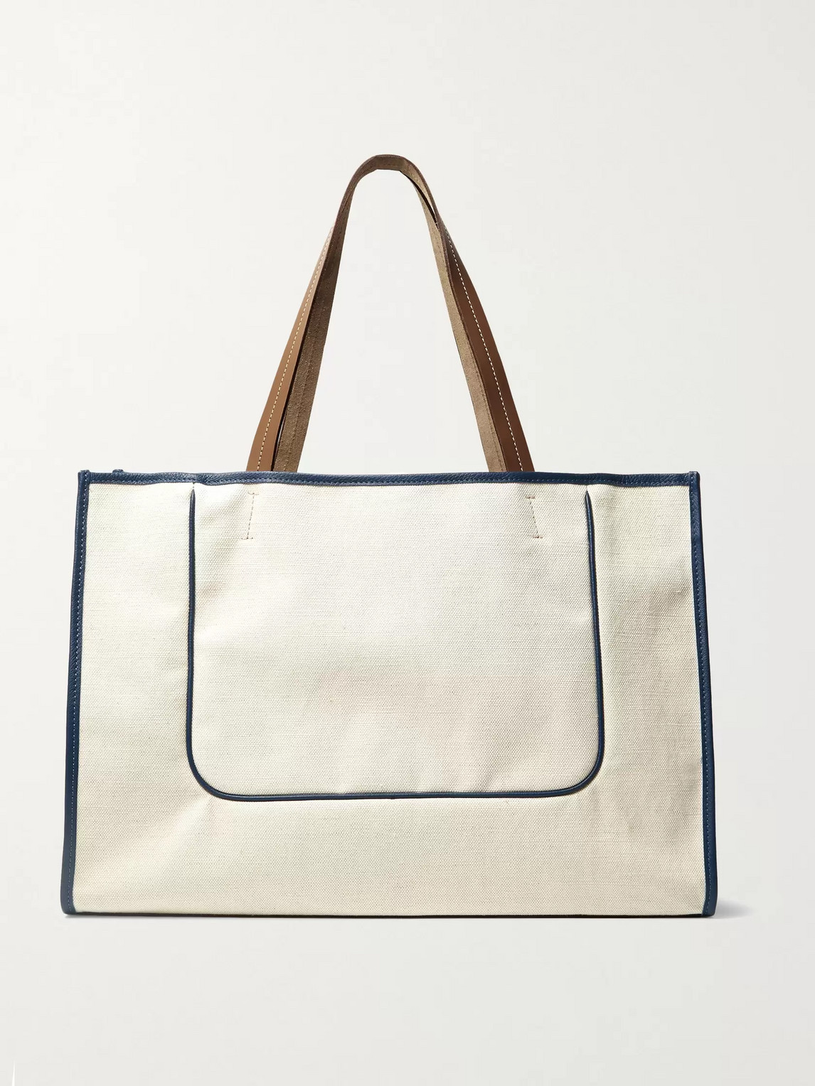 connolly - leather-trimmed canvas tote bag - men - neutrals