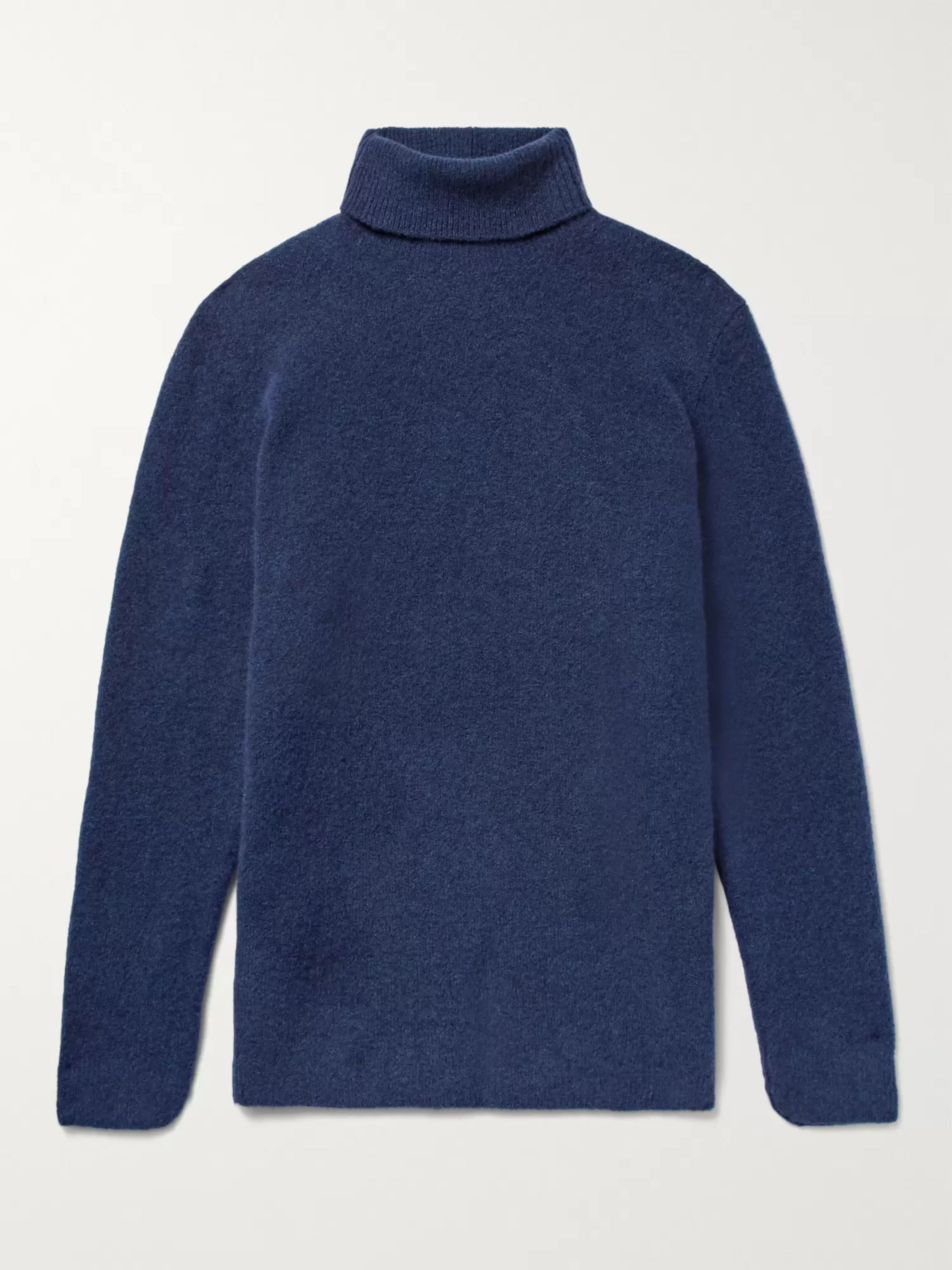 SALLE PRIVÉE Aiden Slim-Fit Mélange Merino Wool-Blend Rollneck Sweater