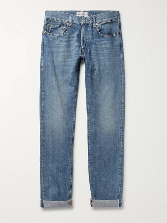 SALLE PRIVÉE Lewitt Slim-Fit Tapered Selvedge Denim Jeans