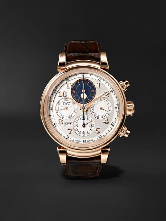 IWC SCHAFFHAUSEN Da Vinci Perpetual Calendar Chronograph 43mm 18-Karat Red Gold and Alligator Watch, Ref. No. IW392101
