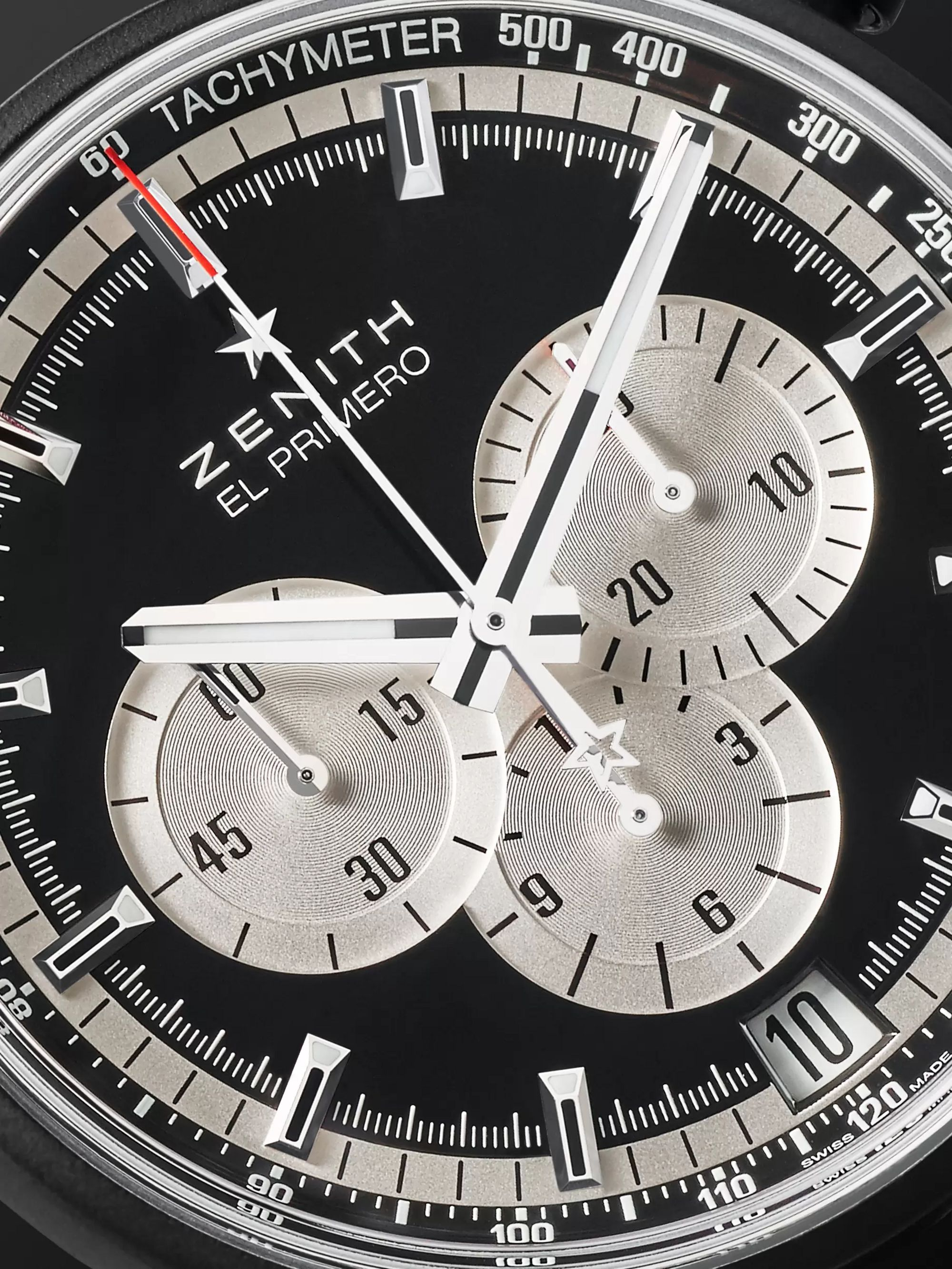 Zenith El Primero Chronomaster 45mm Ceramicised Aluminium and Rubber Watch, Ref. No. 24.2041.400/21.R576