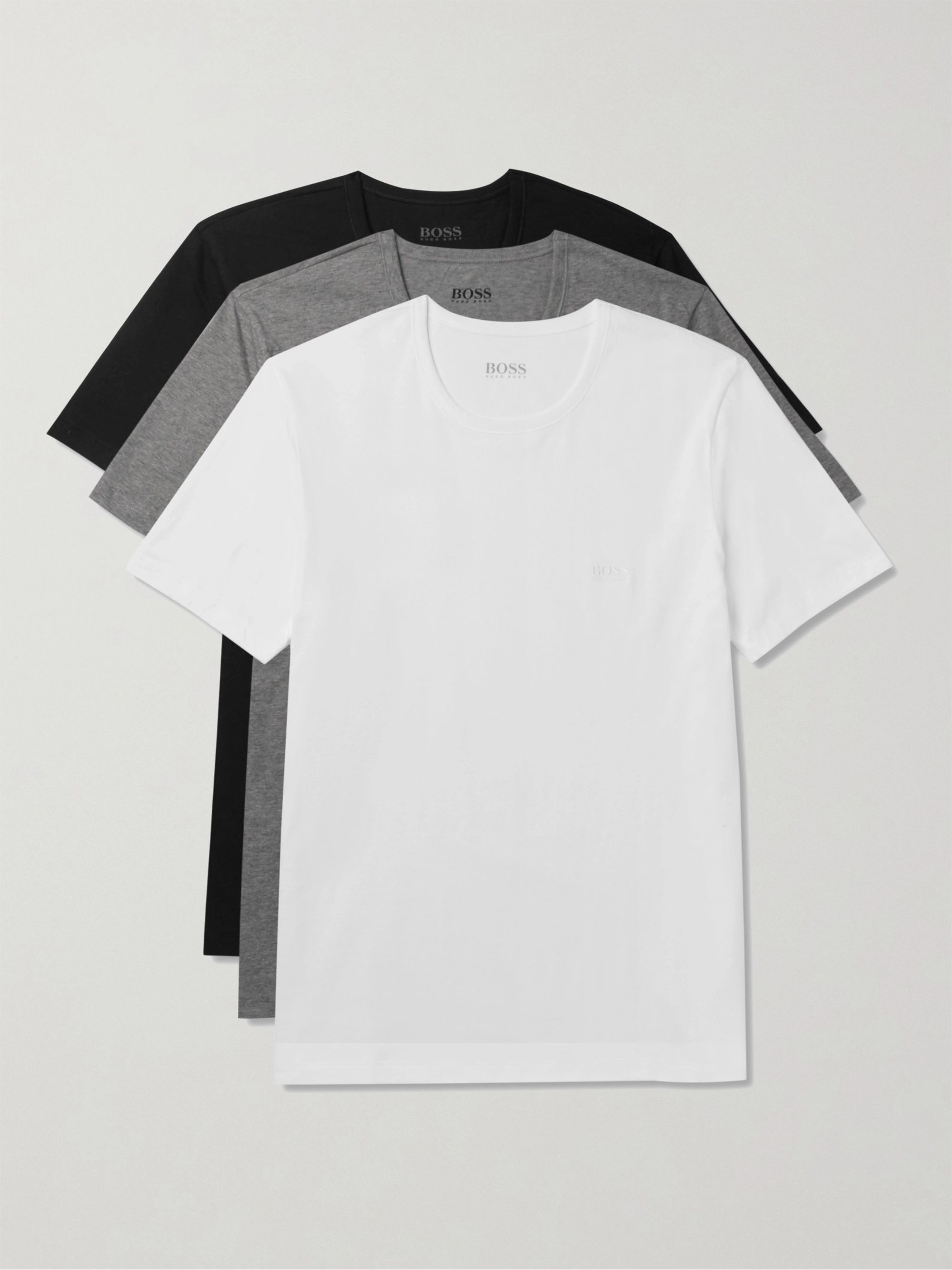 Hugo Boss Three-Pack Cotton-Jersey T-Shirts