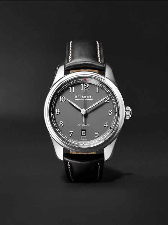 Bremont Airco Mach 2 Anthracite Automatic 40mm Stainless Steel and Leather Watch, Ref. AIRCO-M2-AN-R-S