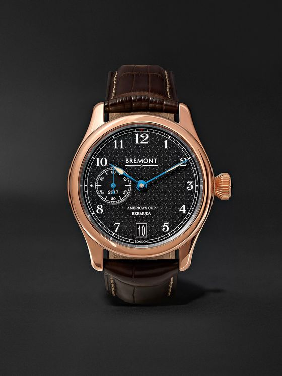 Bremont AC35 America's Cup Automatic 43mm 18-Karat Rose Gold and Alligator Watch, Ref. No. AC35