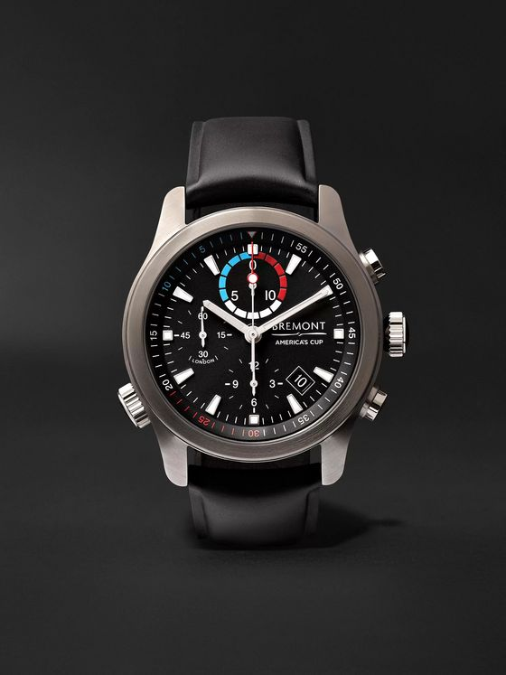 BREMONT AC-R-II America's Cup Automatic Regatta Chronograph 43mm Stainless Steel and Rubber Watch, Ref. No. 970380