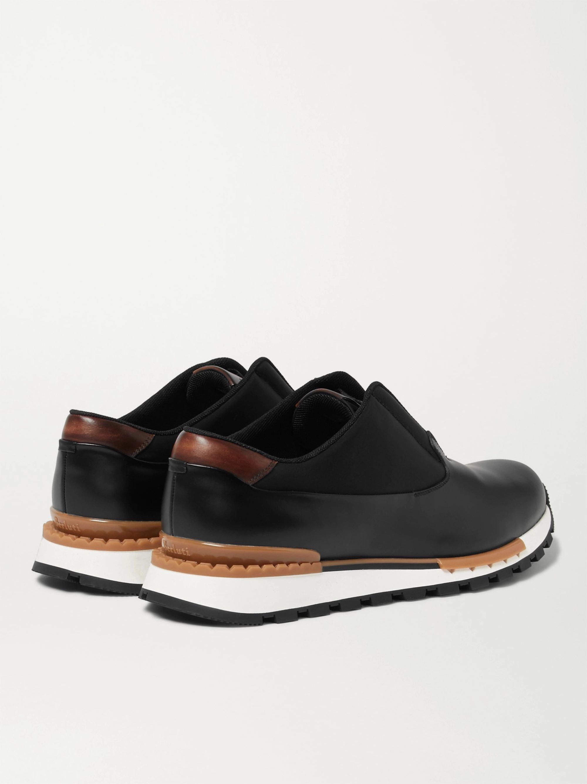 Berluti Fast Track Tornio Leather and Shell Sneakers