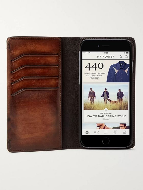 Berluti + Native Union Scritto Leather iPhone 7 and 8 Case