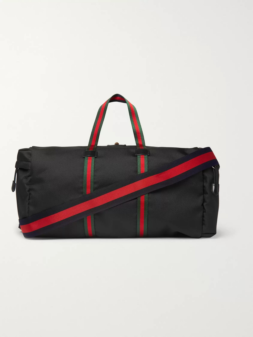 Gucci Webbing-Trimmed Coated-Canvas Holdall