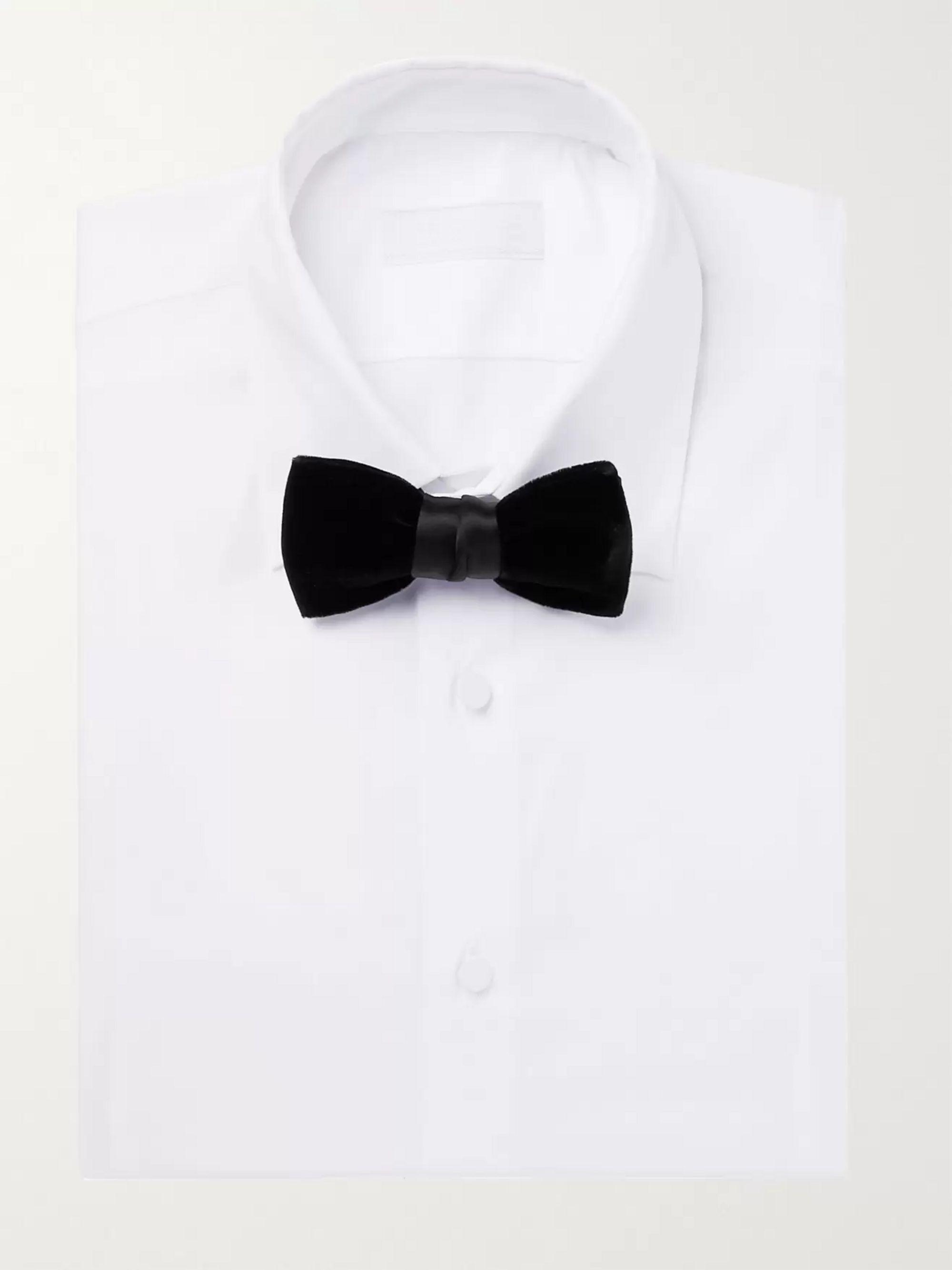 74a5b2c513 White Slim-Fit Double-Cuff Stretch Cotton-Blend Poplin Tuxedo Shirt