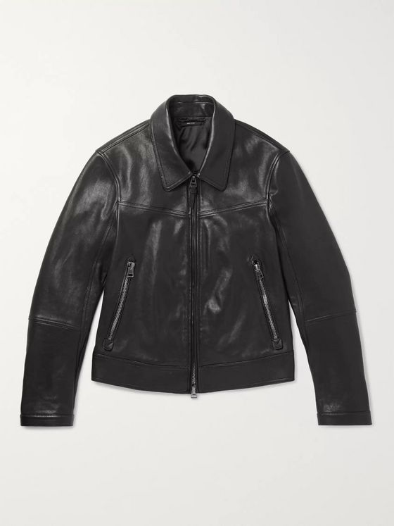 TOM FORD Slim-Fit Leather Blouson Jacket