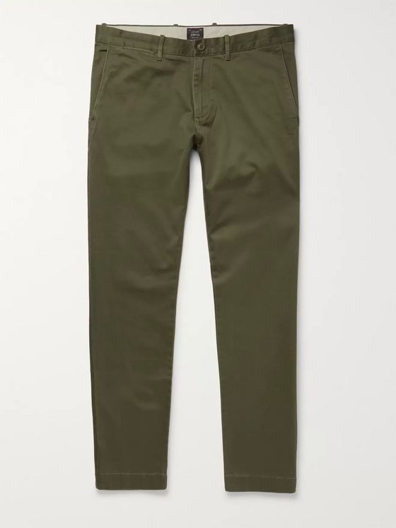 J.Crew 484 Slim-Fit Stretch-Cotton Twill Chinos