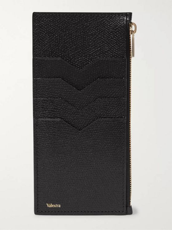 Valextra Full-Grain Leather Zipped Cardholder