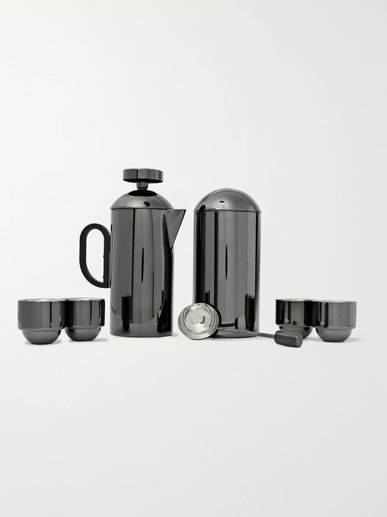 TOM DIXON Brew Coated Stainless Steel Cafetiere Set